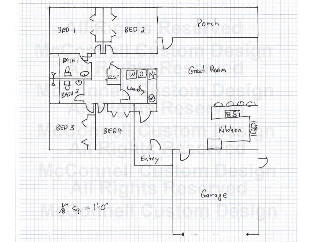 Example Sketch of a House Plan