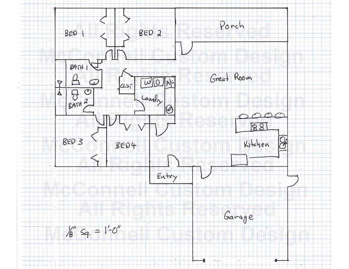 How To Draw A Simple House Floor Plan